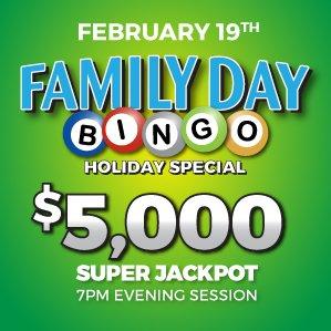 Six Nations Bingo Family Day Bingo
