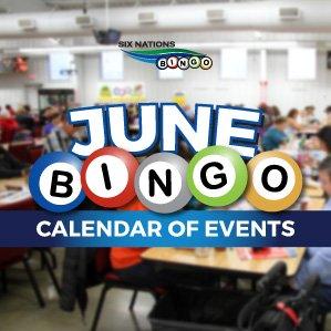 Six Nations Bingo June Calendar of Events