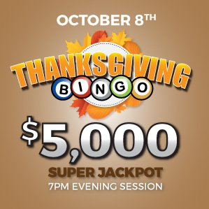 Six Nations Bingo Thanksgiving Holiday Special