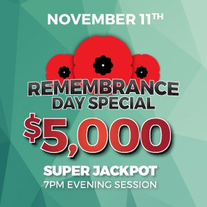 Six Nations Bingo Remembrance Day Holiday Special