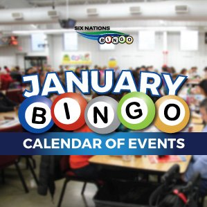 Six Nations Bingo January Calendar of Events