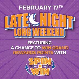 Six Nations Bingo Late Night Long Weekend Spin n Win