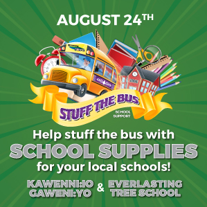 Help stuff the bus with School Supplies for your local schools!