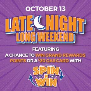 Six Nations Bingo Late Night Weekend Spin n Win