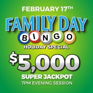 Six Nations Bingo Family Day Bingo Holiday Special