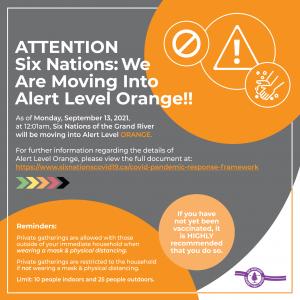 six nations alert orange